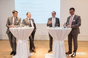 Michael Haberland, Alexander Dobrindt und weitere bei der Vorstellung der BeSmart-Kampagne