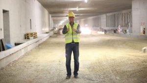 Michael Haberland, Präsident des Automobilclubs Mobil in Deutschland, in einem Tunnel
