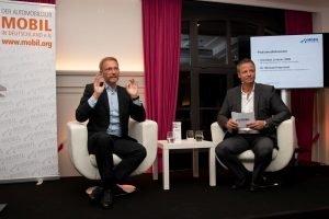 Christian Lindner im Gespräch mit Dr. Michael Haberland, Präsident des Automobilclubs Mobil in Deutschland e.V.