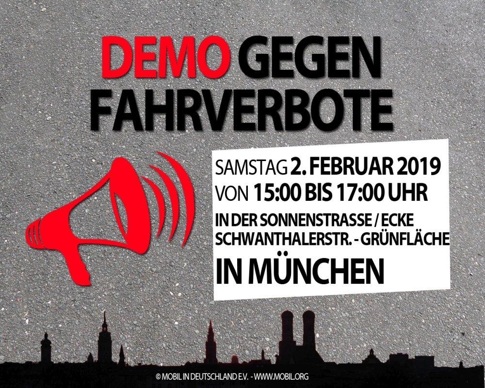 Demo gegen Dieselfahrverbot München