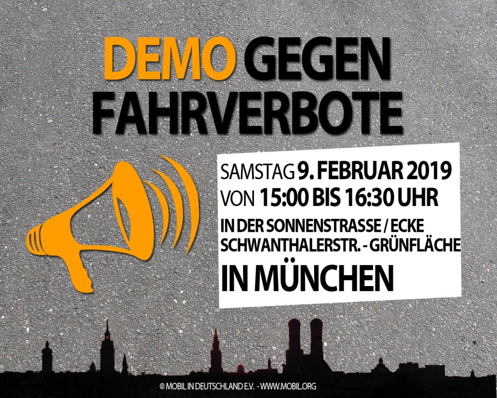 Demo gegen Dieselfahrverbote