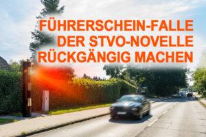 Petition Führerschein-Falle StVO rückgängig machen